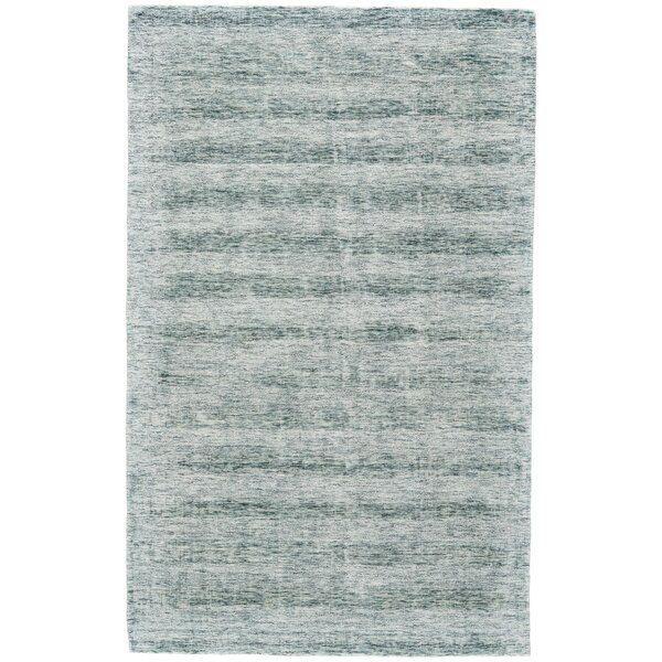 Whiten Hand-Woven Aqua Area Rug by Ophelia & Co.