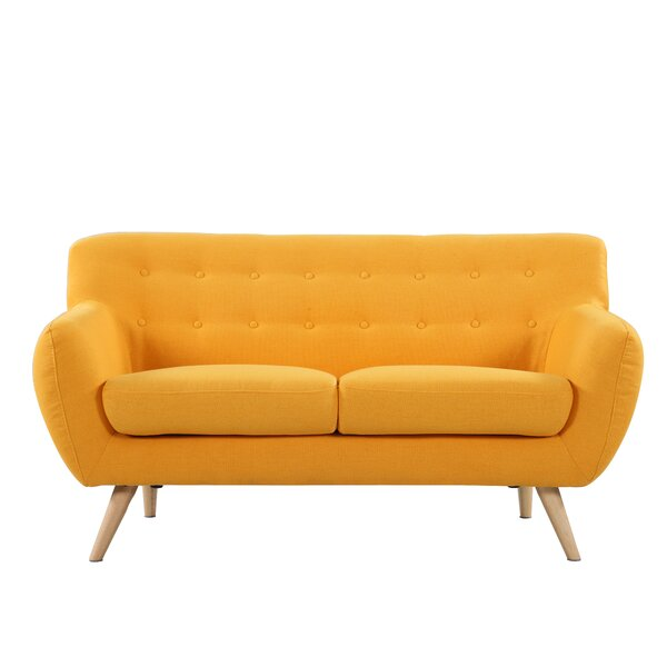 Cal Mid-Century Standard Loveseat by Langley Street