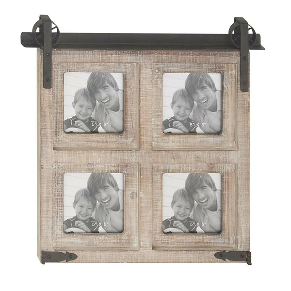 Waldwick Rustic 4-Opening Square Wall Picture Frame by Gracie Oaks