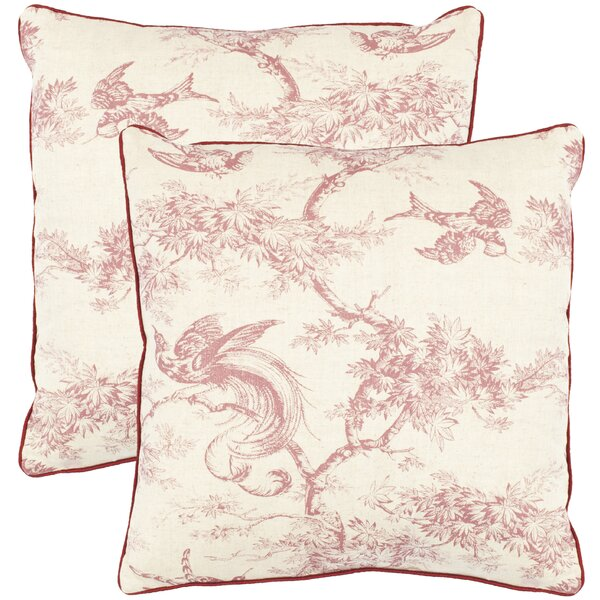 Norah Cotton Toile Throw Pillow (Set of 2) by Safavieh