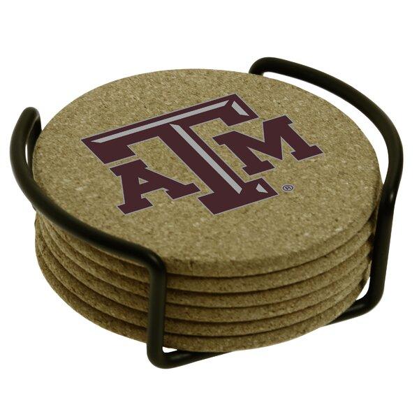 7 Piece Texas A & M University Cork Collegiate Coaster Gift Set by Thirstystone