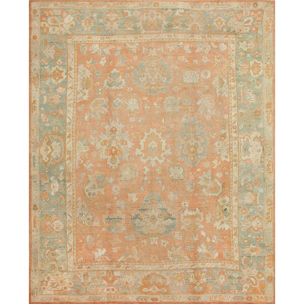 One-of-a-Kind Turkish Hand-Knotted 1900s Brown 11'7 x 14'7 Wool Area Rug