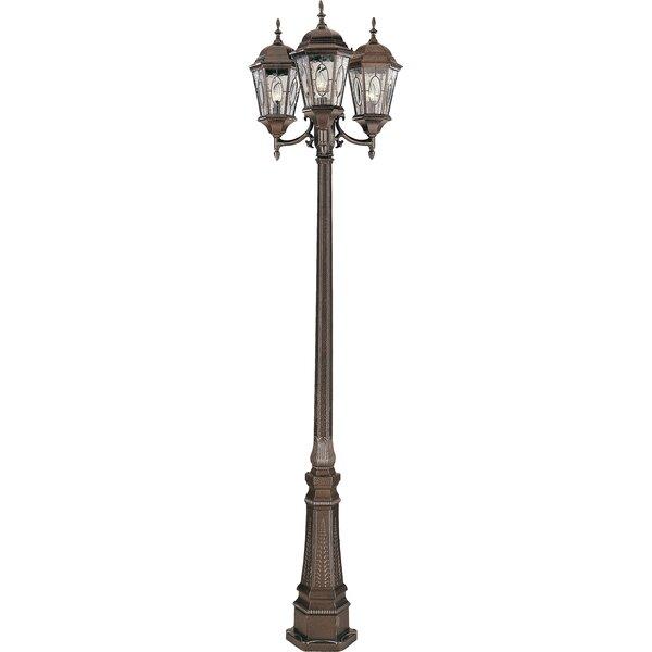 Hensen 3-Light 96 Post Light by Alcott Hill