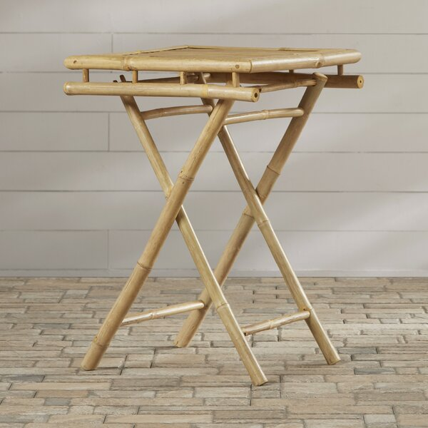 Porter Folding  Solid Wood Side Table by Bay Isle Home