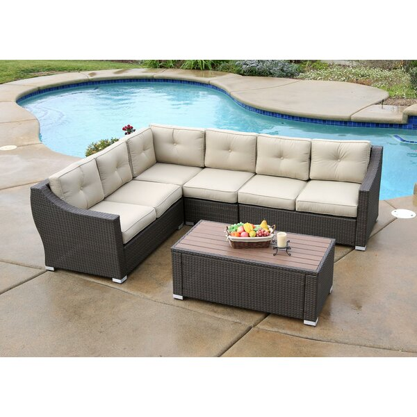 Lanclos 7 Piece Sectional Set with Cushions by Alcott Hill Alcott Hill