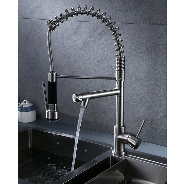 Pull Down Single Handle Kitchen Faucet (Set Of 2) By E-Joy