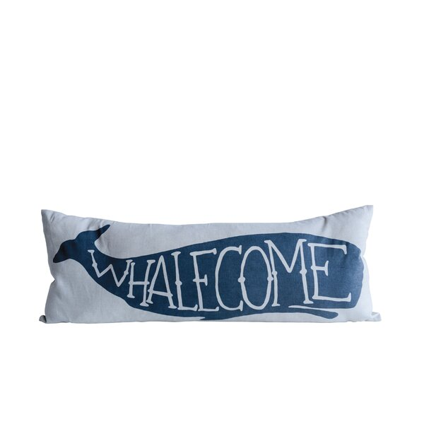 Willilams Whalecome Cotton Lumbar Pillow by Breakwater Bay