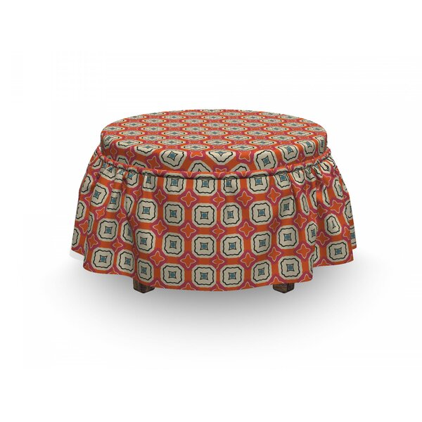 Mosaic Tiles Ottoman Slipcover (Set Of 2) By East Urban Home