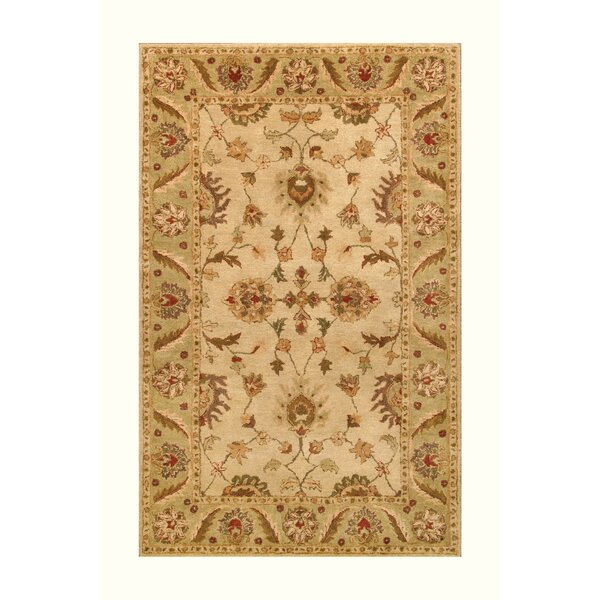 Golden Beige/Light Green Area Rug by Noble House