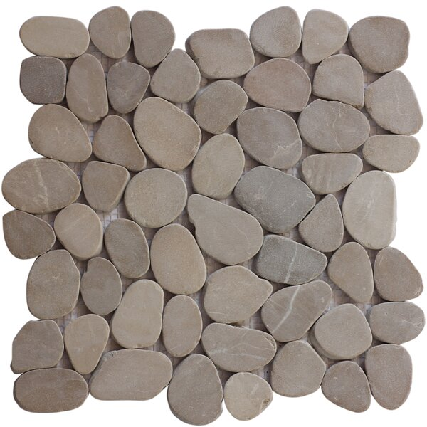 Random Sized Natural Stone Mosaic Tile in Tan/Beige by FuStone