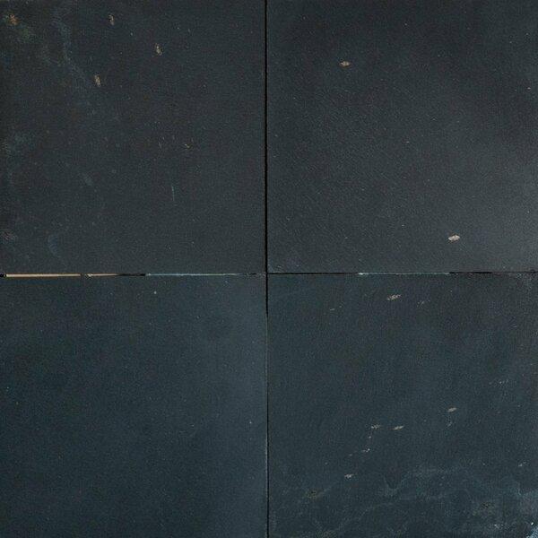 Midnight Black Honed 12x12 Slate Field Tile