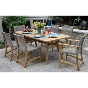 Marva Teak 7 Piece Dining Set