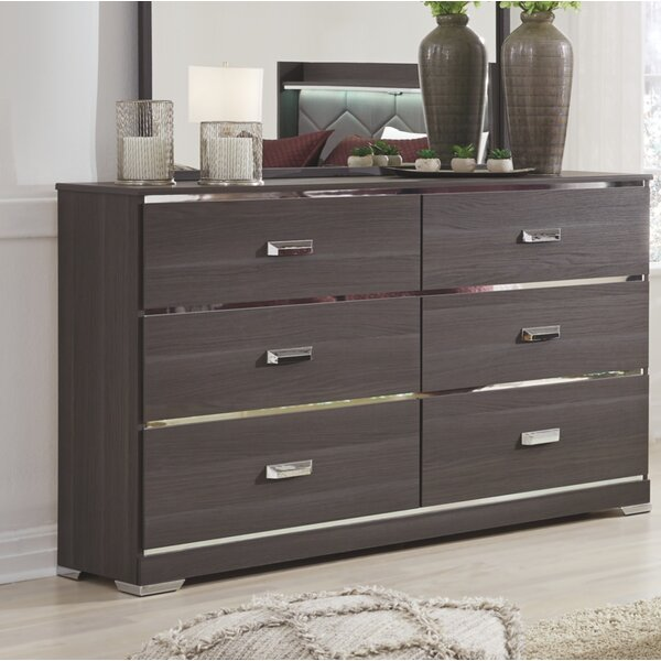 Alena 6 Drawer Double Dresser by Everly Quinn
