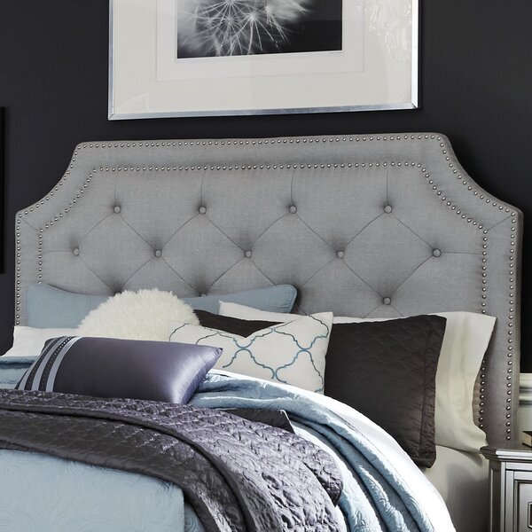 Haneul Silver Upholstered Panel Headboard by Willa Arlo Interiors