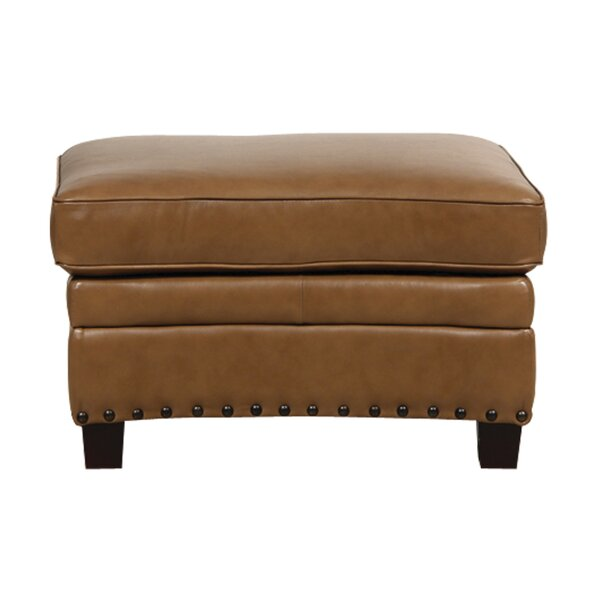 Hubbard Leather Storage Ottoman by Darby Home Co