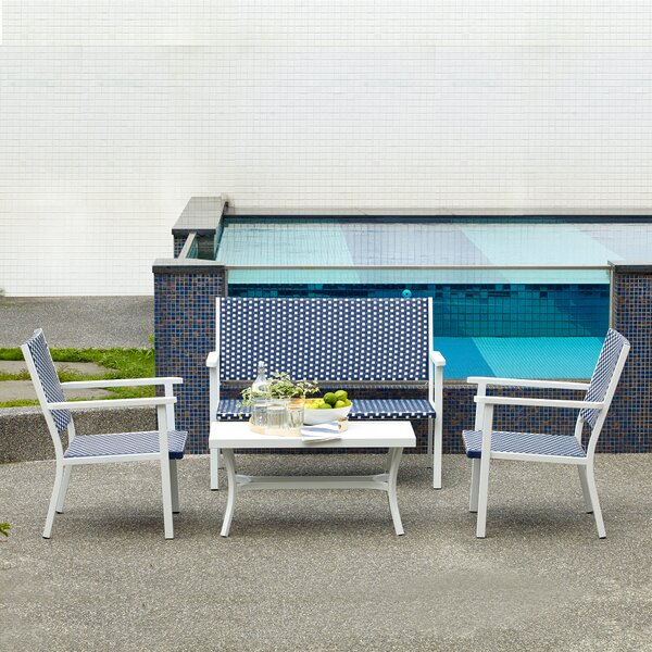 Cronin Patio Conversation 4 Piece Sofa Seating Group by Highland Dunes