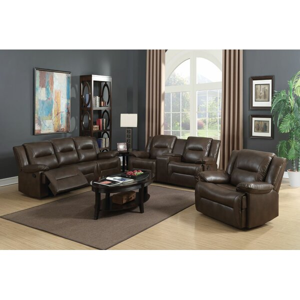Lechez Reclining Motion 3 Piece Living Room Set by Red Barrel Studio