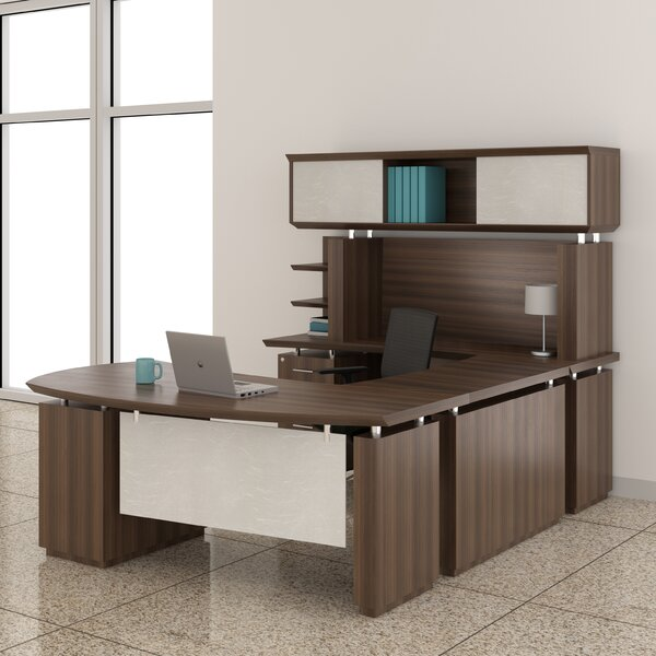 Sterling U-Shape Executive Desk with Hutch by Mayline Group