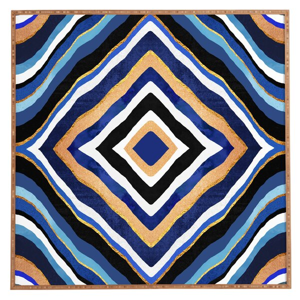 Blue Slice Framed Graphic Art by East Urban Home