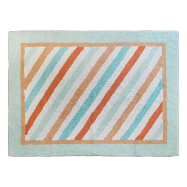 Penny Lane Aqua/Orange Area Rug by My Baby Sam