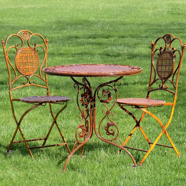 Rueben 3 Piece Bistro Set by World Menagerie