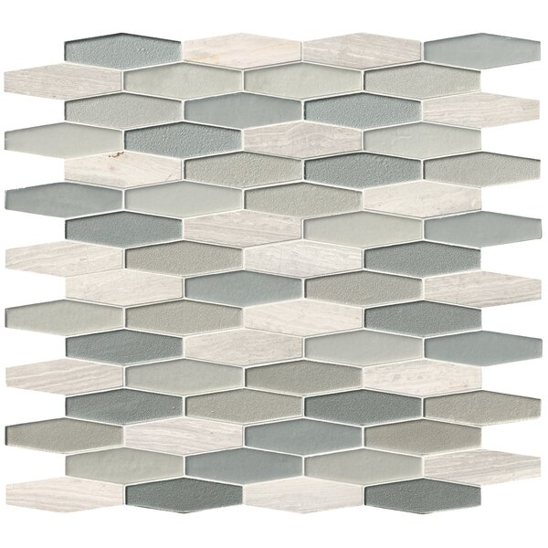 Europa Elongated Hexagon Glass/Stone Mosaic Tile in Beige by MSI