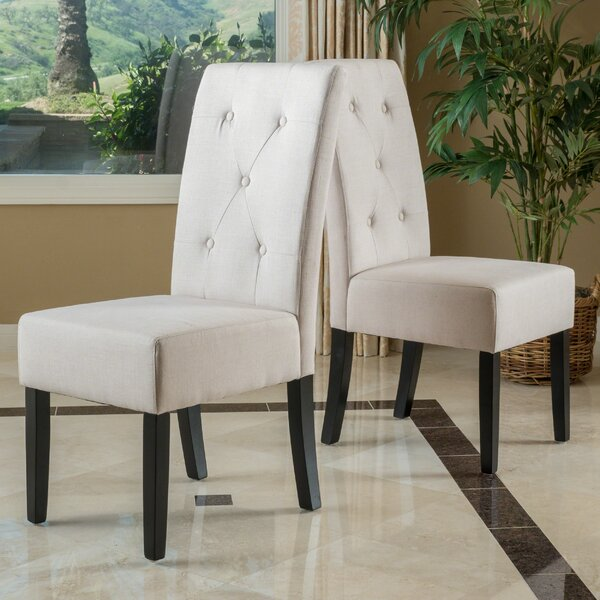 Corinne Upholstered Dining Chair (Set of 2) by Latitude Run