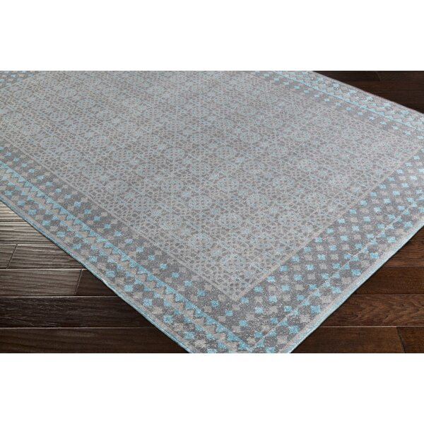 Arabi Blue/Gray Area Rug by Bungalow Rose