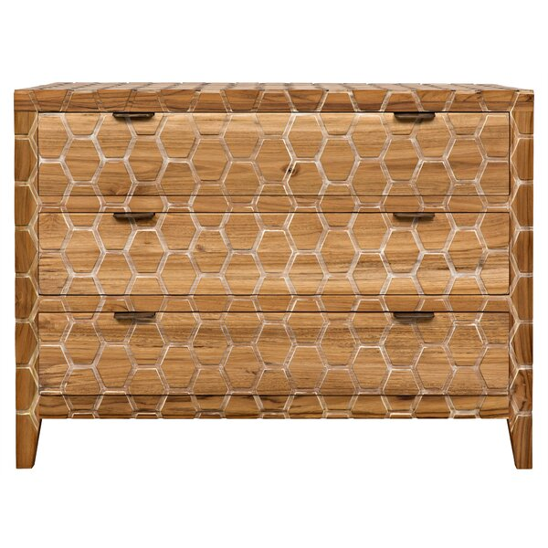 Garrett 3 Drawer Dresser by Noir