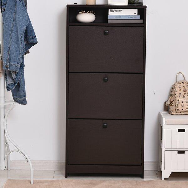 Trendy 24 Pair Shoe Storage Cabinet