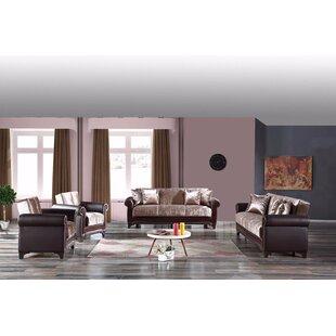 Dewsbury 3 Piece Sleeper Living Room Set by Rosdorf Park