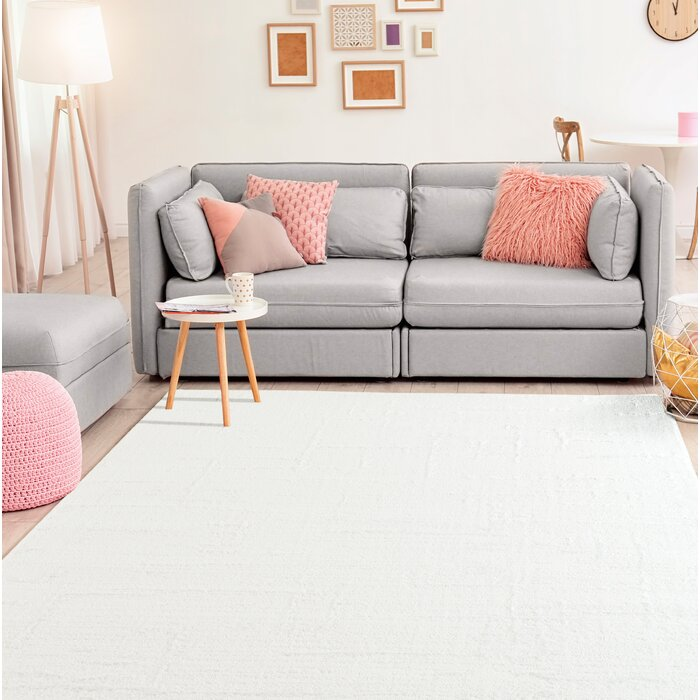 Ospina Accent White Area Rug