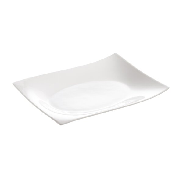 White Basics Motion Rectangular 12 Plate (Set of 6) by Maxwell & Williams
