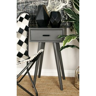 Wood End Table With Storage Cole & Grey