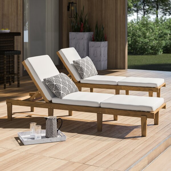 Ardsley Sun Lounger Set With Cushions (Set Of 2) By Mercury Row