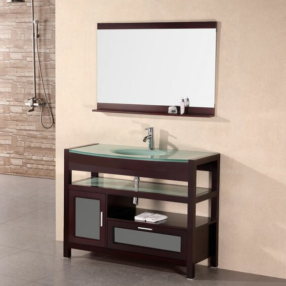 Harper 43 Single Bathroom Vanity Set with Mirror by dCOR design