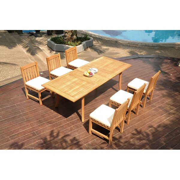 Mariano 7 Piece Teak Dining Set by Rosecliff Heights