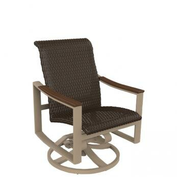 Brazo Woven Swivel Rocking Chair by Tropitone