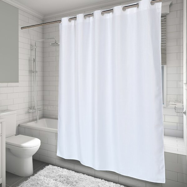 Hammitt Waffle Weave Shower Curtain by Highland Dunes