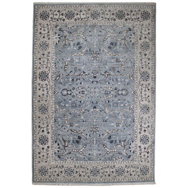 Osblek Oushak Blue/Beige Area Rug by Charlton Home