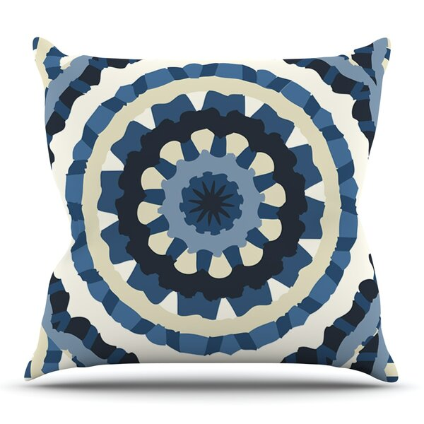 Ribbon Mandala by Laura Nicholson Outdoor Throw Pillow by East Urban Home