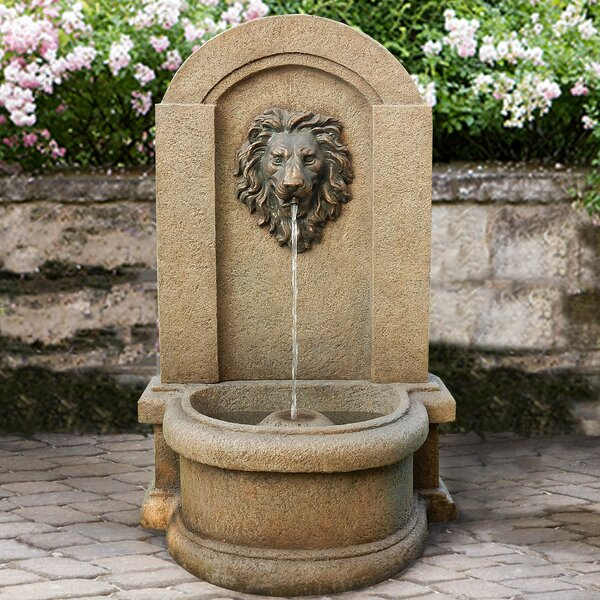 Resin Classic Lionhead Floor Fountain by Jeco Inc.