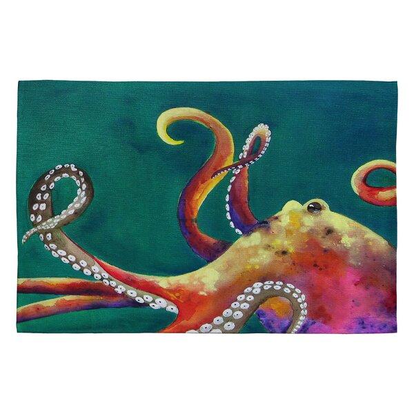 Clara Nilles Mardi Gras Octopus Area Rug by Deny Designs