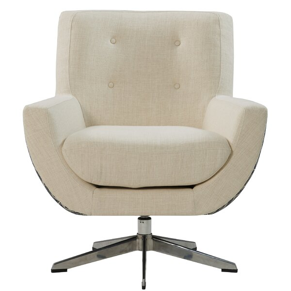 Burlingame Fabric Swivel Armchair by Brayden Studio
