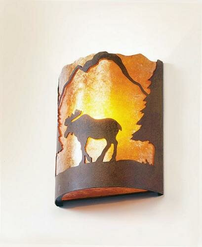 Moose Timber Ridge 1-Light Wall Sconce by Steel Partners