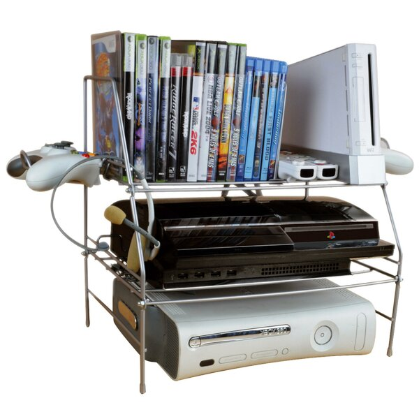 Multimedia Wire Rack Media Storage By Symple Stuff