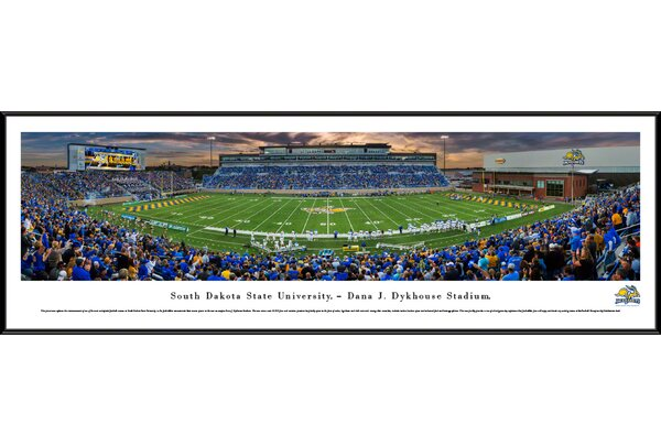 NCAA South Dakota State Football 1st Game at Dykhouse Stadium Framed Photographic Print by Blakeway Worldwide Panoramas, Inc