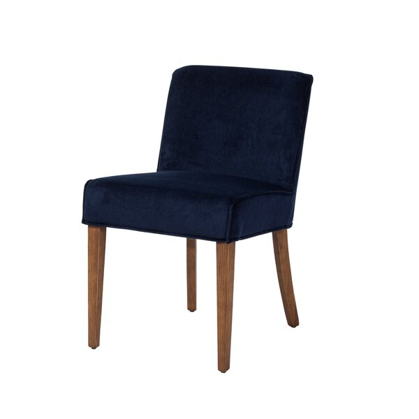 Reimels Dining Chair in Navy Blue Velvet by Gracie Oaks Gracie Oaks
