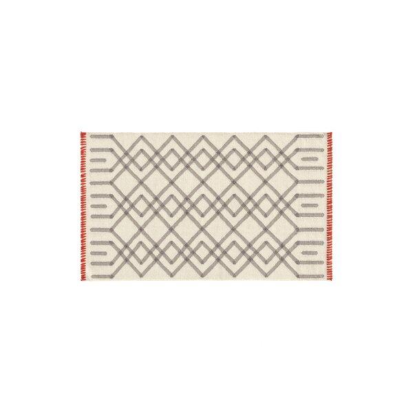 Duna Handmade Kilim Wool Gris Area Rug by Gandia Blasco