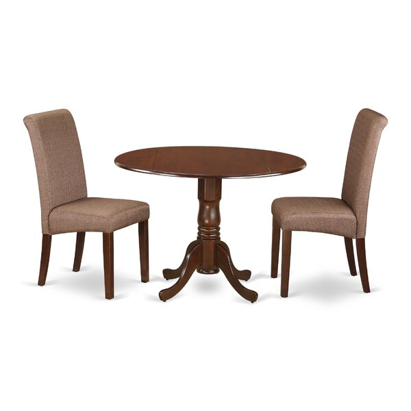 Pappalardo Small Table 3 Piece Drop Leaf Solid Wood Breakfast Nook Dining Set By Charlton Home